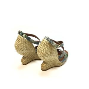 Paloma Barcelo Snakeskin Espadrille Wedge Sandal 8